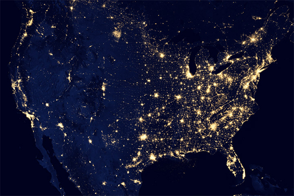 PNNL Night Lights Guide Urban Mappers From The Sky - Us night sky map