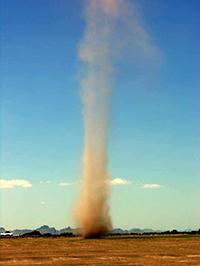 dust devil in Arizona