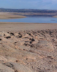 Folsom Lake drought in California