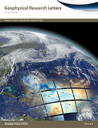 Cover of Geophysical Research Letters October 2014