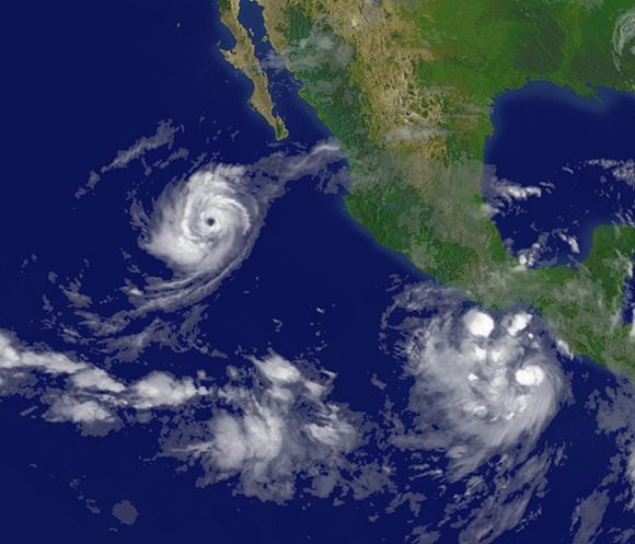 Satellite photo of hurricane Norbert