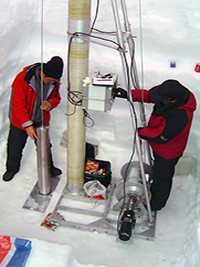 taking ice cores