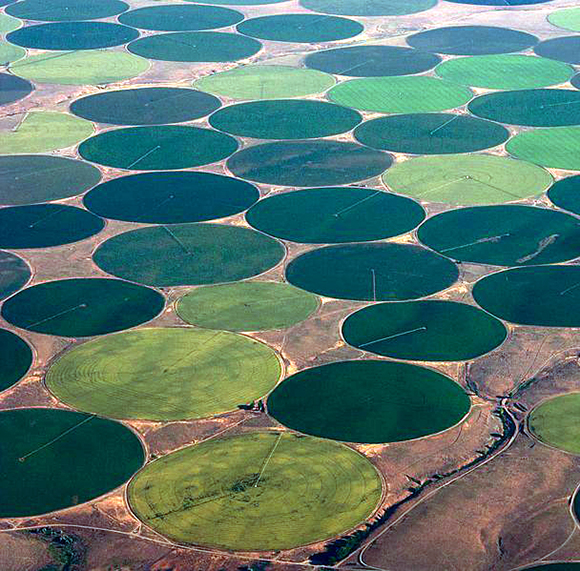 aerial irrigation green circles