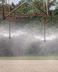 irrigating fields with water uses energy