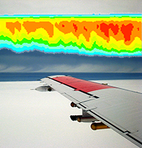 Plane wing ISDAC clouds model output