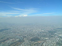 haze and smog over Mexico City