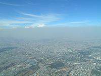 haze and smog over Mexico City