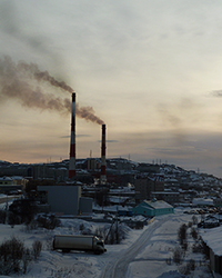 soot pollution in the Russian Arctic near Mumansk