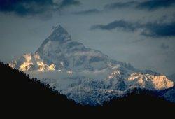 Mount Machapuchare in Nepal