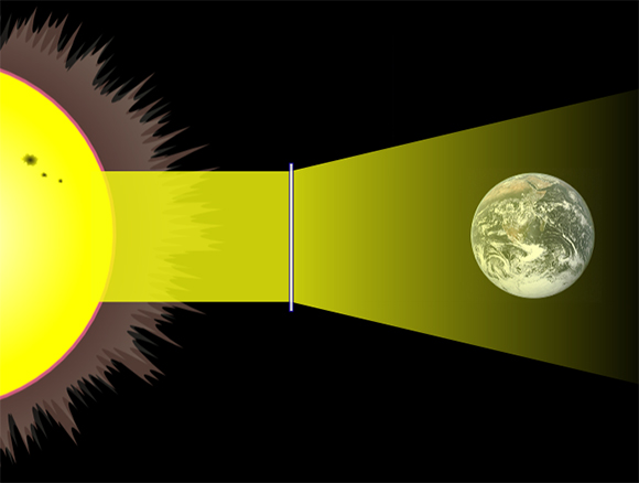 Solar engineering space lens concept