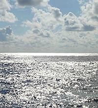 Trade Cumulus Clouds over ocean