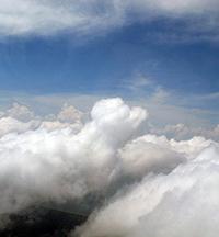tropical clouds over Darwin, Australia