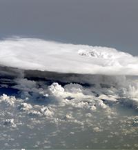 tropical rain clouds