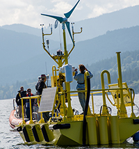 wind-measuring buoys