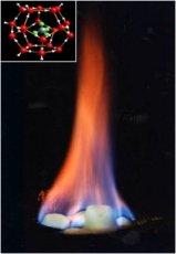 Burning clathrates