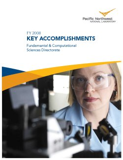 Graphic Cover: 2008 Accomplishments Report