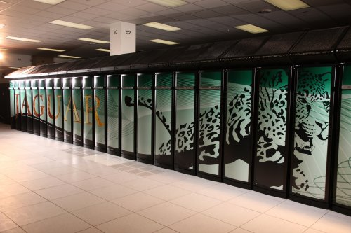 Cray XT5 Jaguar supercomputer.