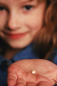 Child with lost tooth