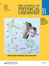Journal of Physical Chemistry B cover, copyright 2014 American Chemical Society