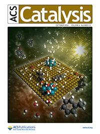 Cover of ACS Catalysis journal cover, October 2014