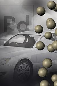 Palladium catalysts and vehicle exhaust