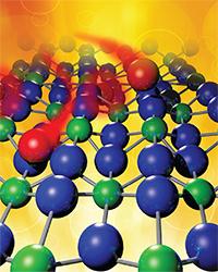 Oxygen diffuses into uranium dioxide