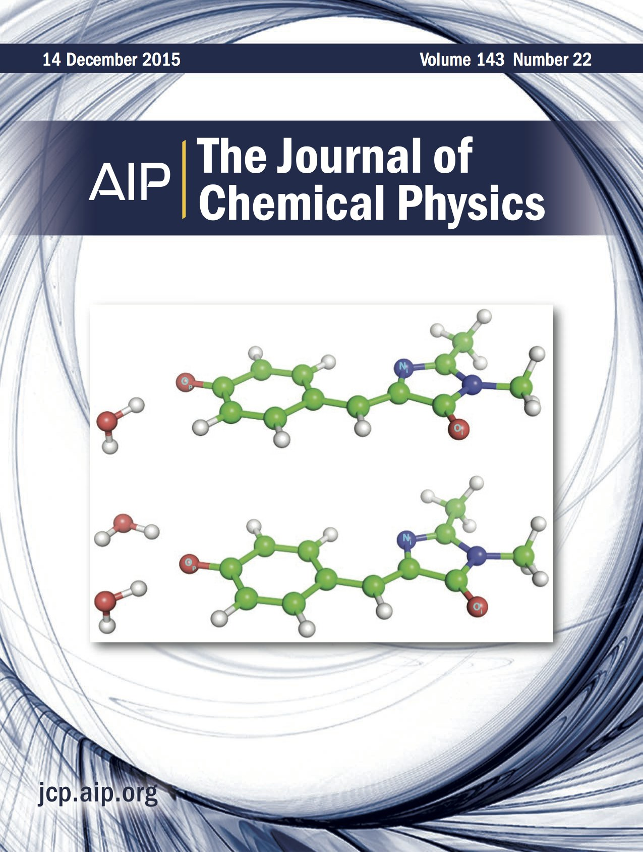 Journal cover depicting GFP molecule