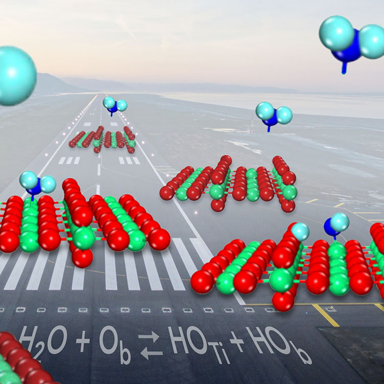 Water molecules land on oxide