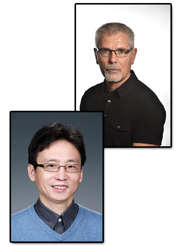 Janos Szanyi and Feng Gao, portraits