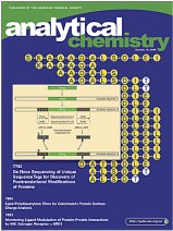 The cover of the October 15 issue of Analytical Chemistry depicts procedures used to determine protein post-translational modifications from the de novo-sequenced UStags on a background of partial sequences