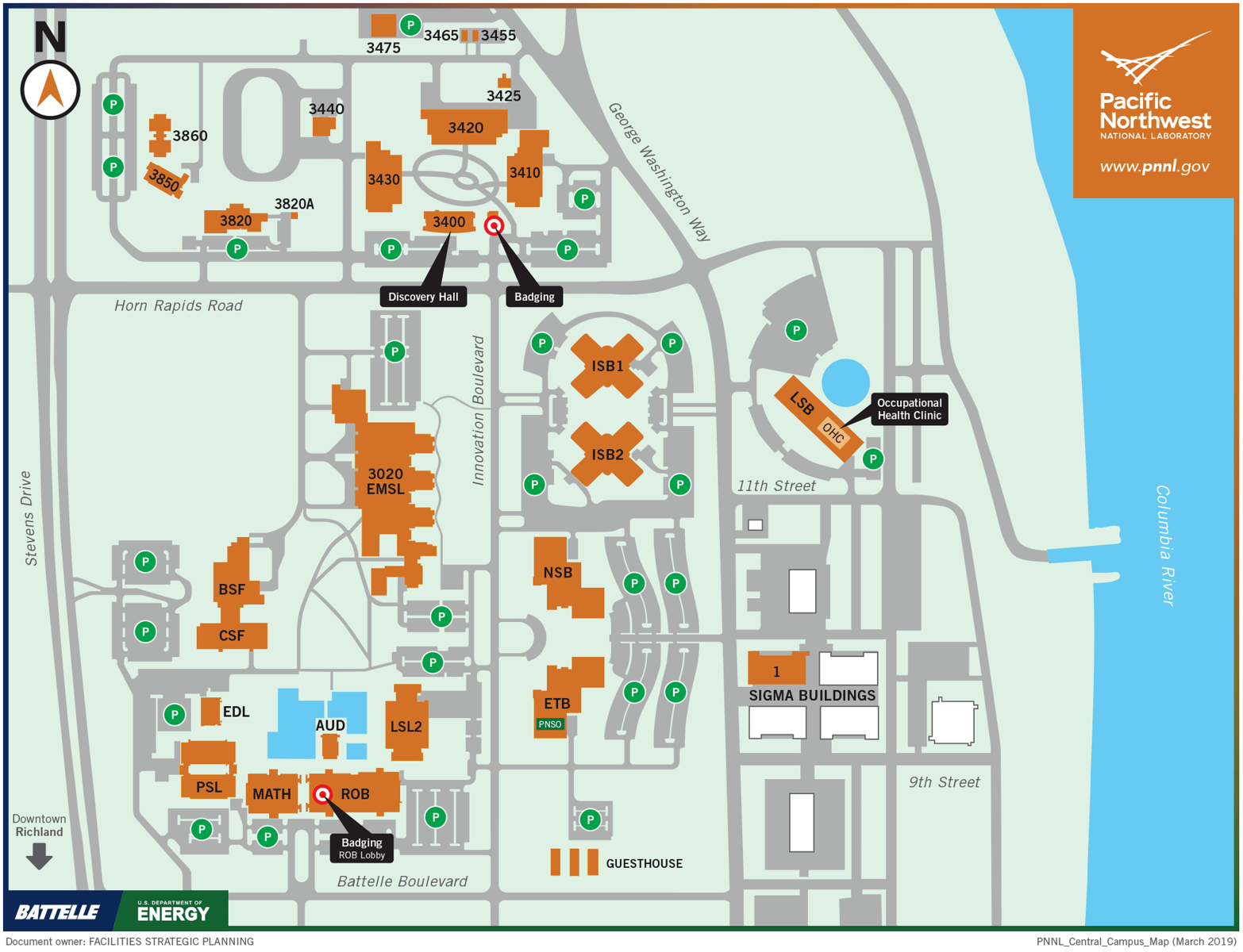 PNNL Central Campus Map Updated