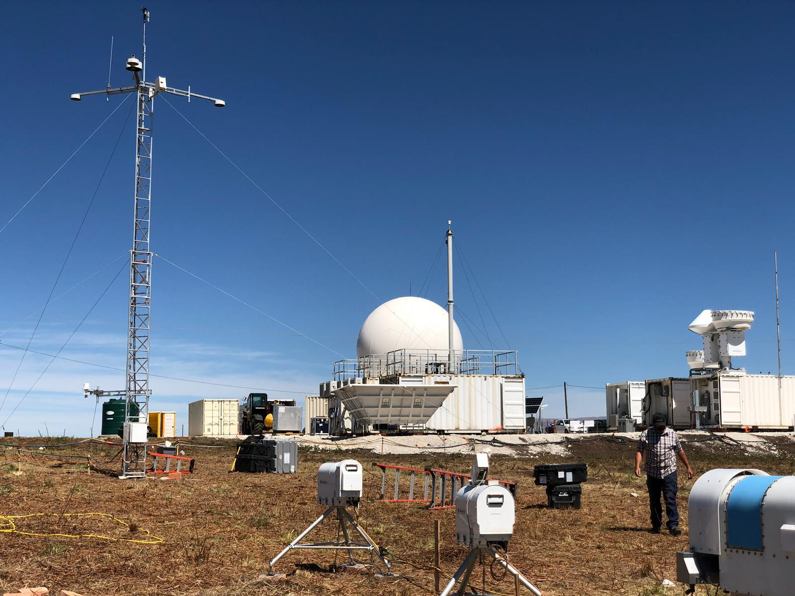 weather monitoring equipment at a remote site