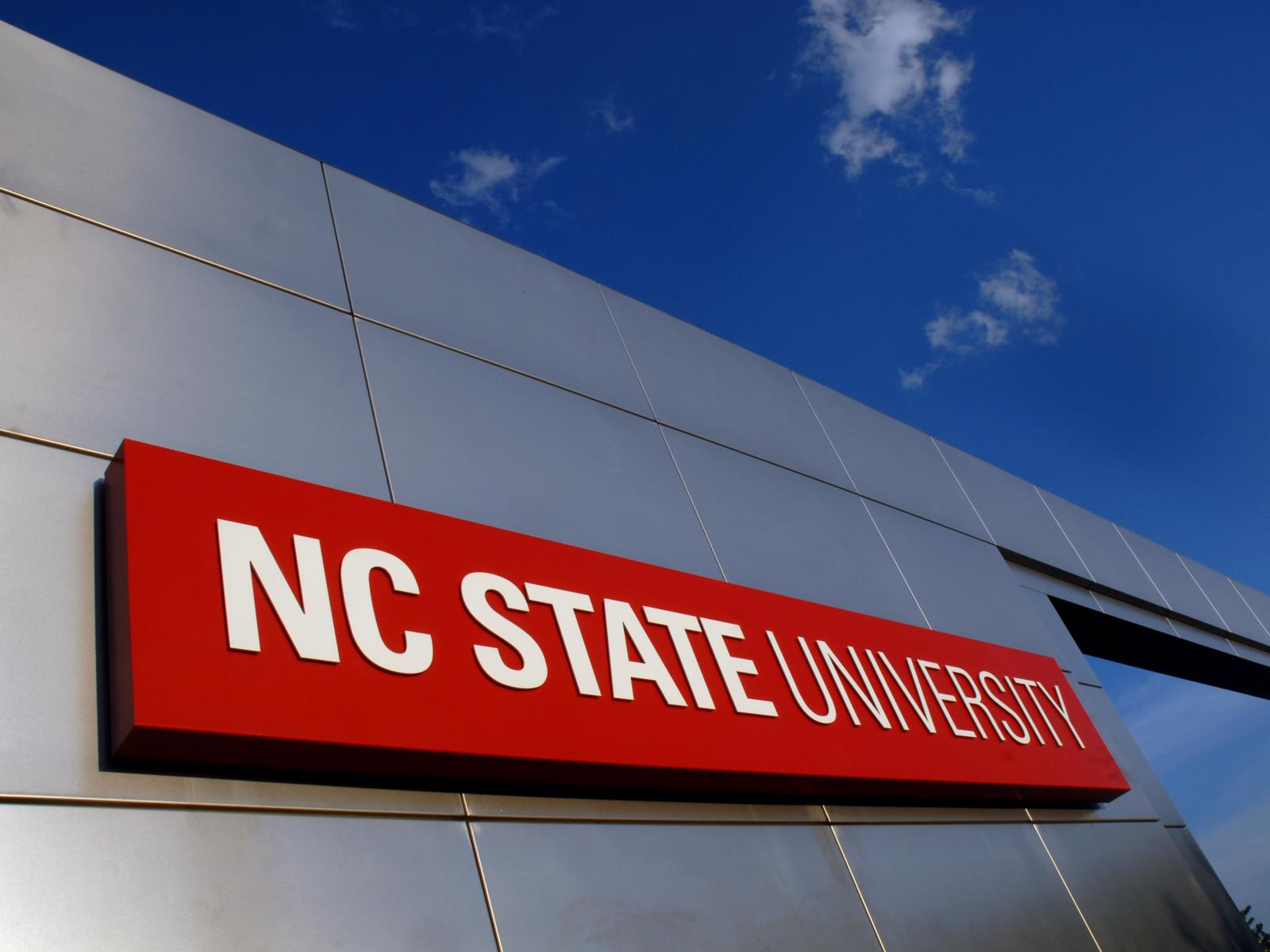 North Carolina State University Campus Sign