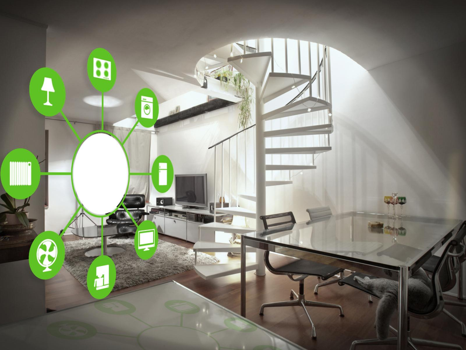 Modern home with connected icons
