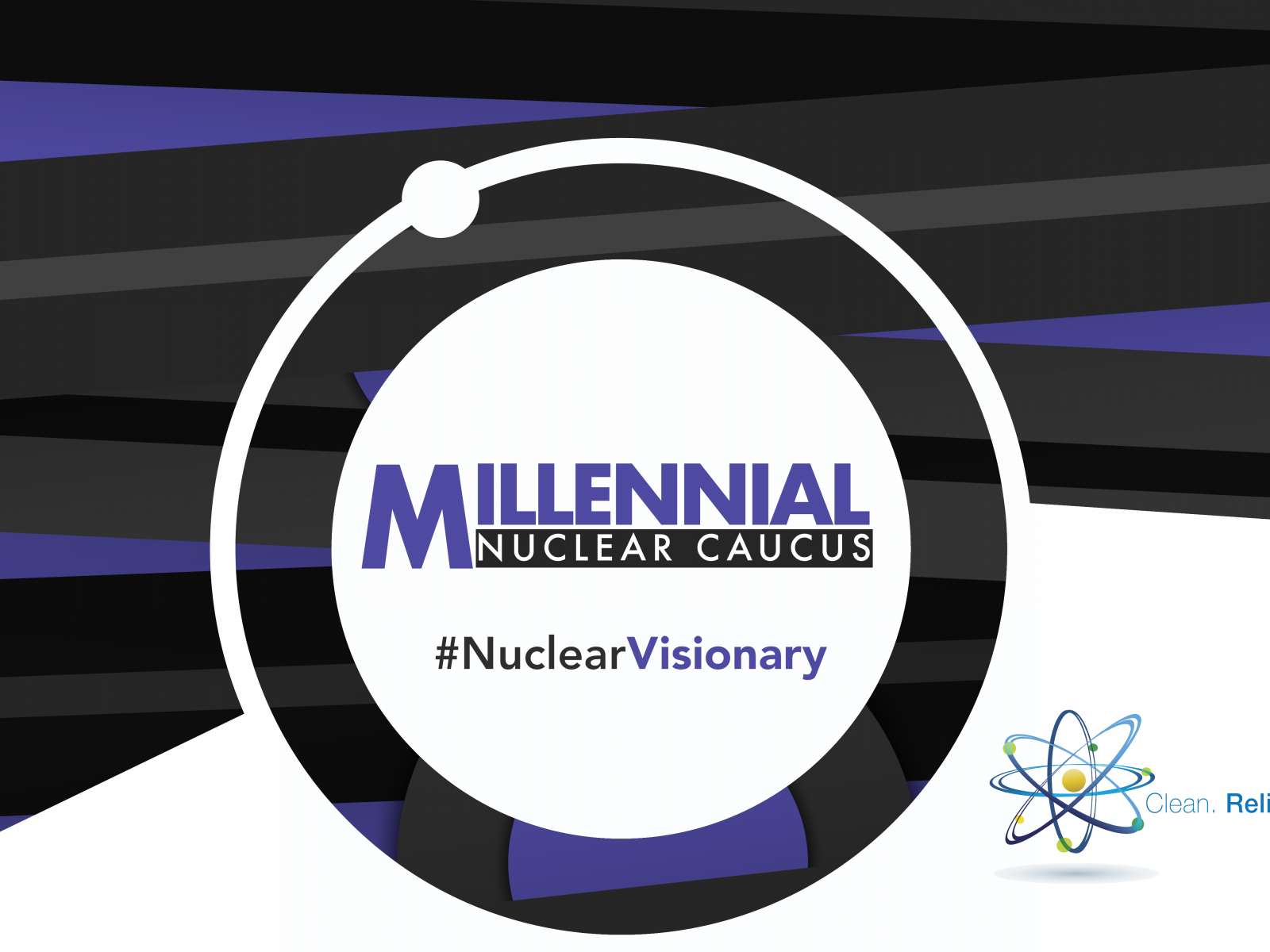 Logo for the Millennial Nuclear Caucus