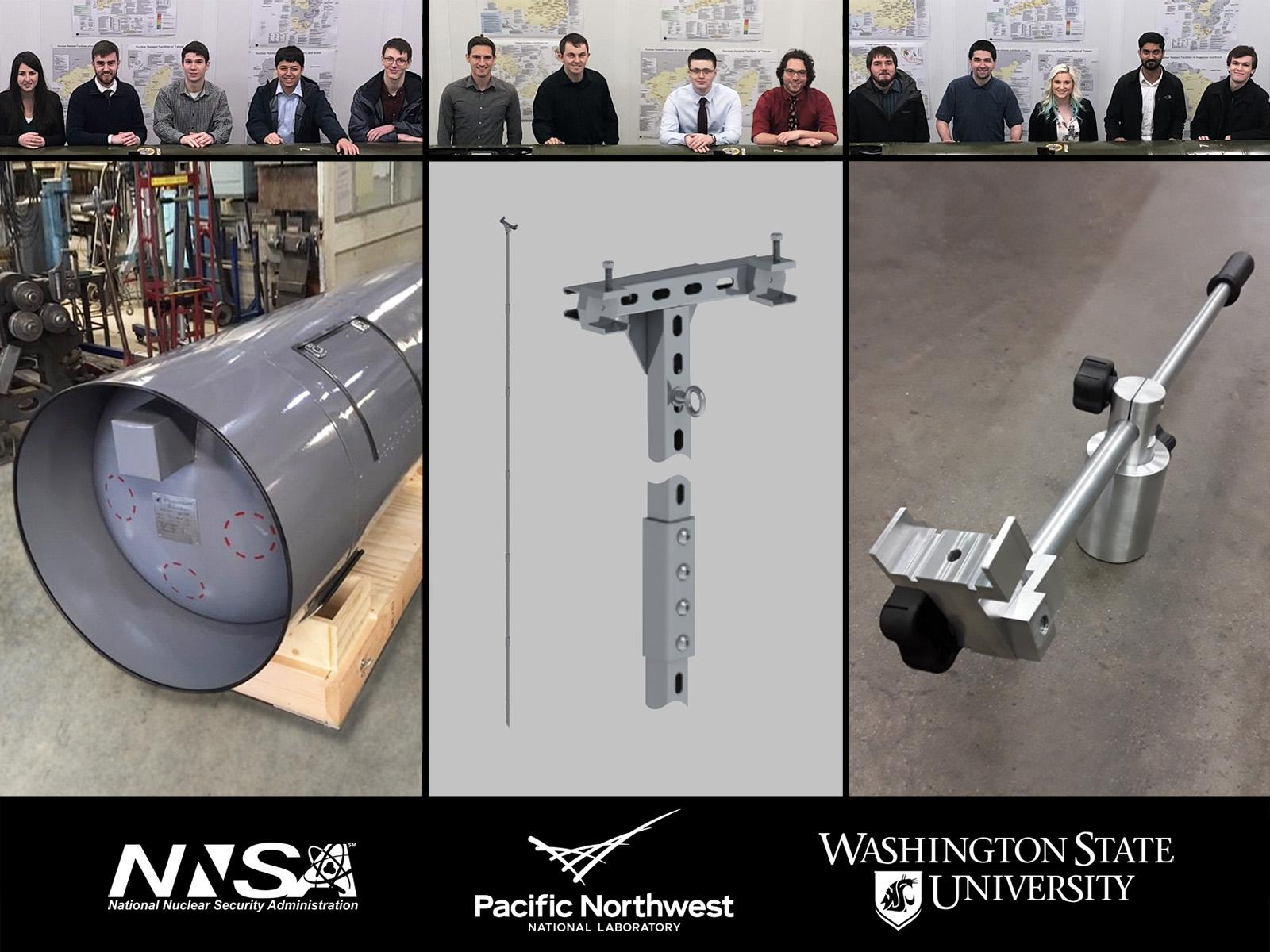 WSU engineering student teams and their prototype equipment