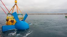 The Sabella Balao is an example of an axial flow tidal turbine.