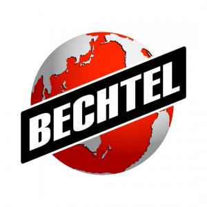 Logo shows the company name Bechtel over a red globe of earth