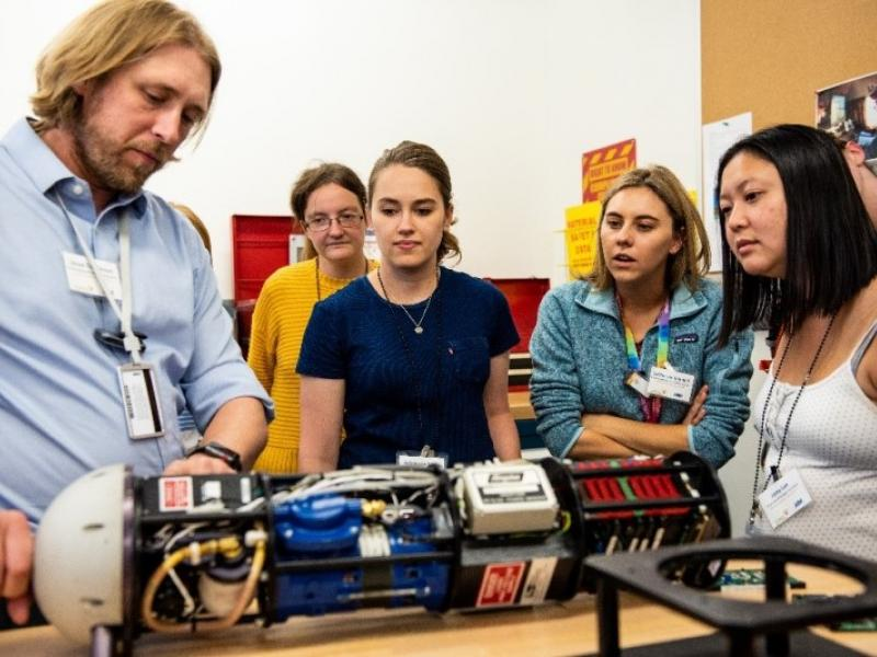 2019 Aerosol Summer School demonstration at PNNL's Atmospheric Measurements Laboratory