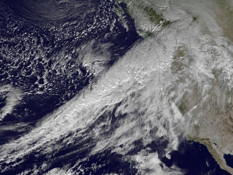 Clouds that make up the atmospheric river above the U. S. west coast