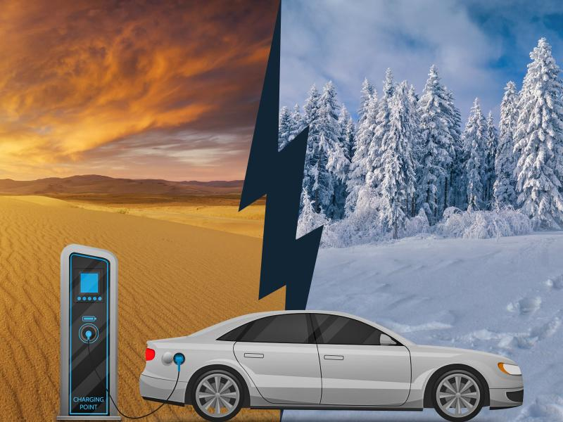 Electric vehicle in hot and cold climates
