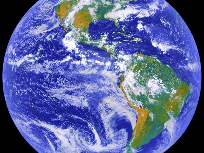 Photo of Earth from NASA satellite