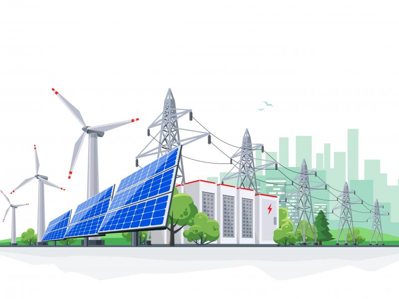 Economic dispatch can incorporate renewables and energy storage with the grid