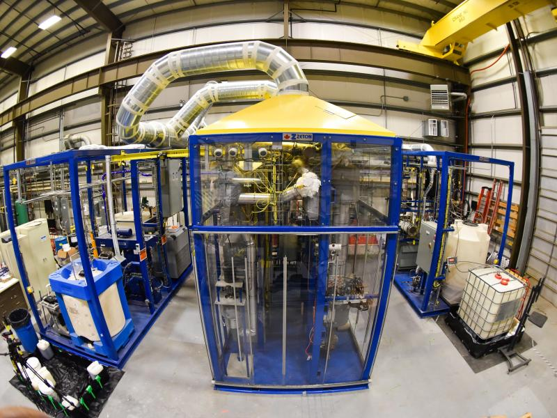 Photo of Modular Hydrothermal Liquefaction System at PNNL