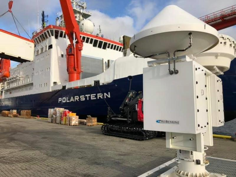 ARM Radar Equipment Before Installation on the R/V Polarstern