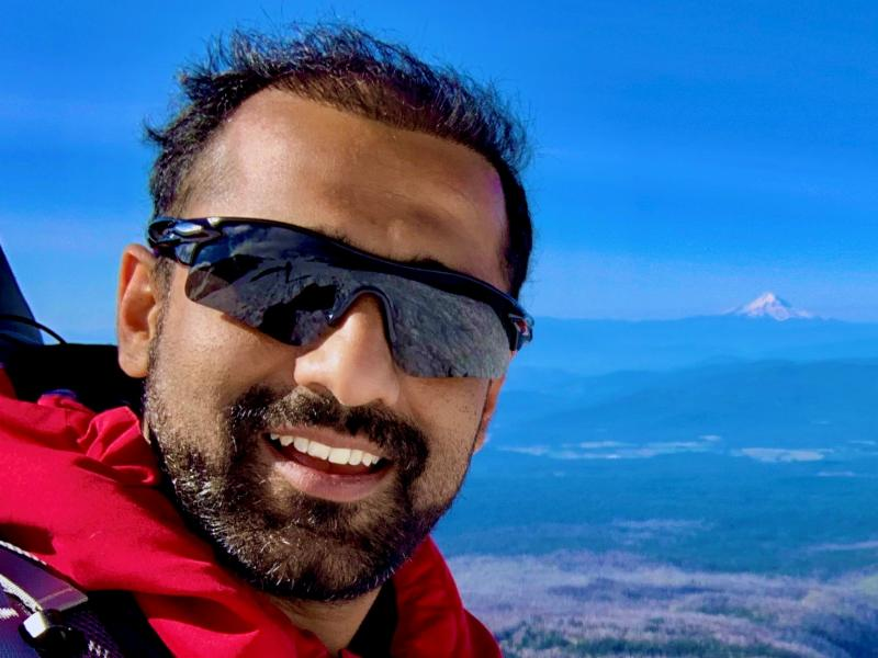 Bharat Gwalani on Mount Adams