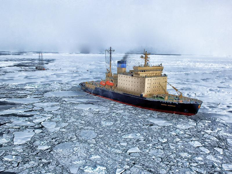 Arctic shipping emissions warm the snow and ice