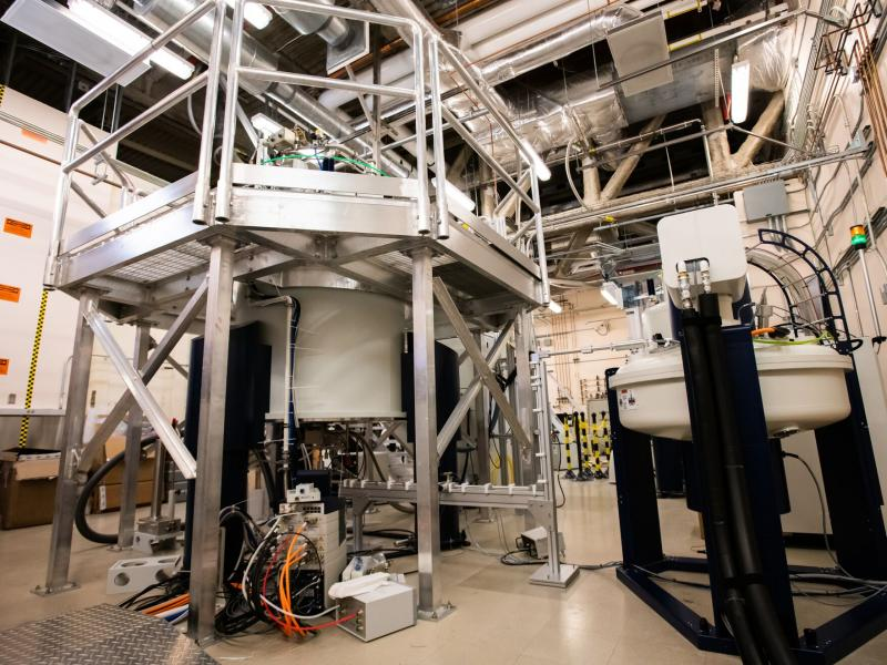 PNNL's Dynamic Nuclear Polarization-Nuclear Magnetic Resonance spectrometer (DNP-NMR) is the strongest of its kind (800 MHz) in North America.