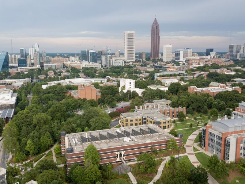 View of the Georgia Tech campus in midtown Atlanta, Georgia.