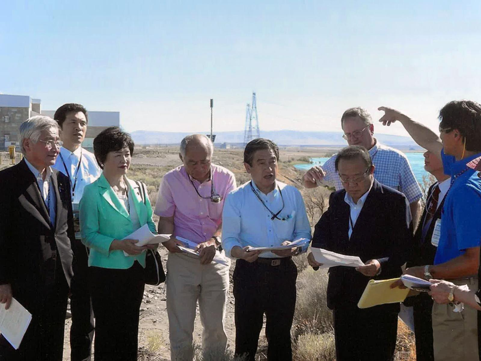 Japanese visitors to Hanford